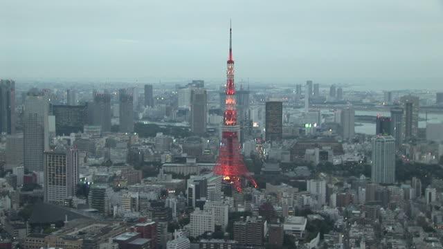 Tokyo, JapanView of Tokyo Tower at magic hour in Tokyo Japan