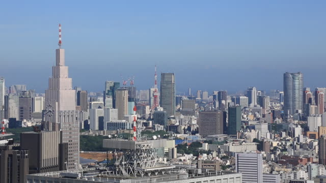 tokyo landscape of summer - roppongi hills stock videos and b-roll footage