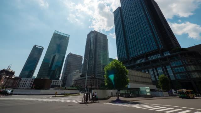 tokyo marunouti buildings time lapse - marunouchi stock videos & royalty-free footage