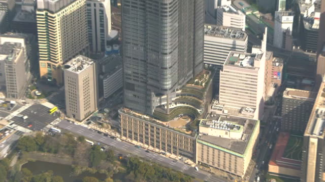 aerial, tokyo midtown hibiya, japan - tokyo midtown stock videos and b-roll footage