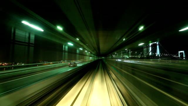 Tokyo monorail train timelapse