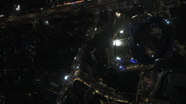 tokyo night aerial image - roppongi hills mori tower - roppongi stock videos and b-roll footage