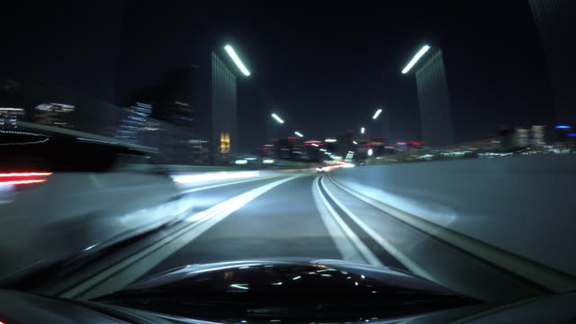 Tokyo night view drive highway time lapse
