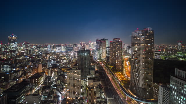tokyo night with traffic - roppongi stock videos and b-roll footage