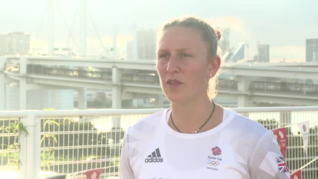 tokyo olympic games: holly bradshaw interview; part 2 of 2 japan: tokyo: ext holly bradshaw interview sot q: do you think there's enough of a support... - news not politics stock videos & royalty-free footage