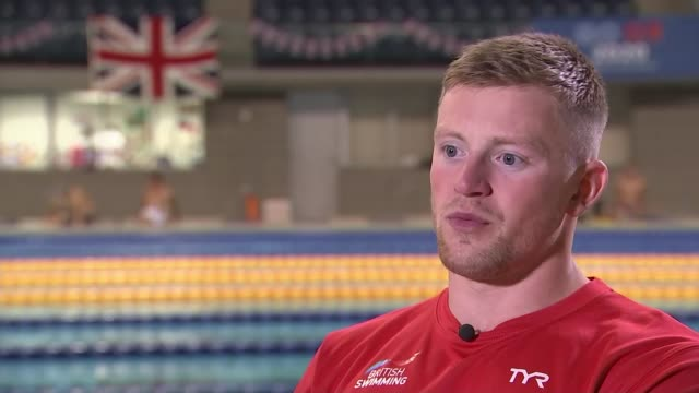 Team GB in Tokyo to check city and sports venues ahead of games next year Tokyo JAPAN various shots of Adam Peaty along in swimming pool and...