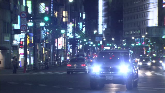 tokyo roppongi at night - roppongi stock videos and b-roll footage