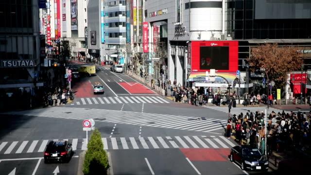 HD VDO :日本東京渋谷スクランブル交差点