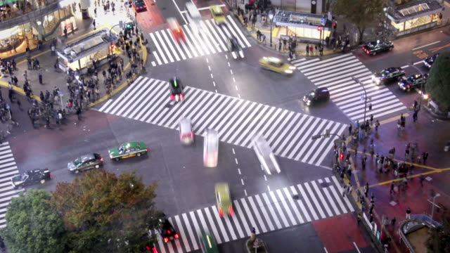 tokyo shibuya crossing - pedestrian crossing stock videos & royalty-free footage