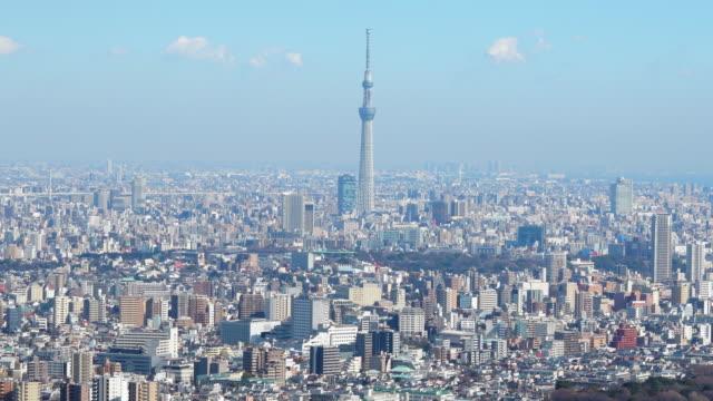tokyo sky tree and tokyo buildings - 都市景観点の映像素材/bロール