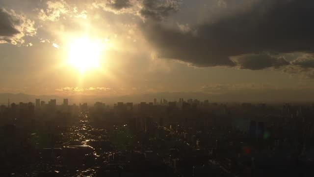 AERIAL, Tokyo Skyline At Dusk, Japan