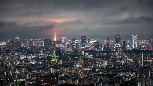 T/L MS HA Tokyo Skyline at Night / Tokyo, Japan