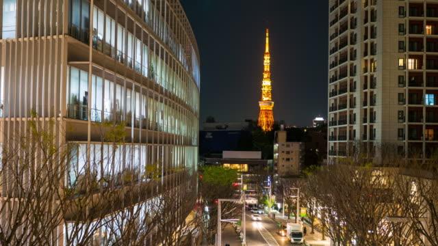 Tokyo skyline bei Nacht