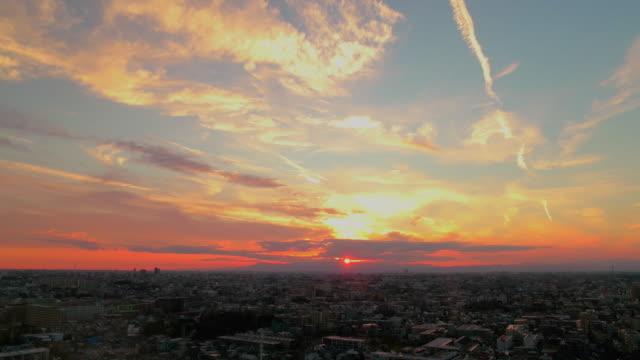 tokyo skyline at sunset. - 日没点の映像素材/bロール