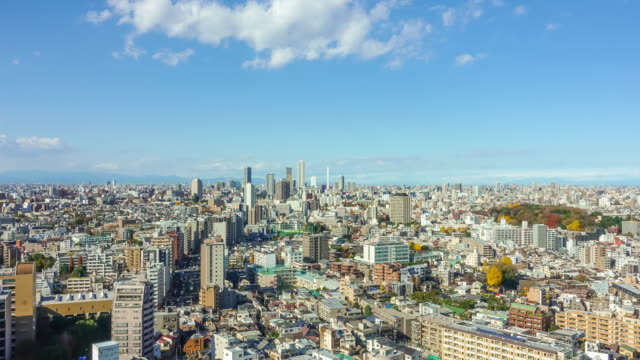 tokyo skyline from above - roppongi stock videos and b-roll footage