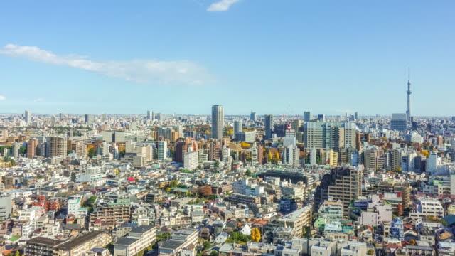 上から東京のスカイライン