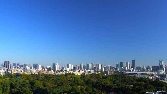 新宿から東京のスカイライン - 修理する点の映像素材/bロール