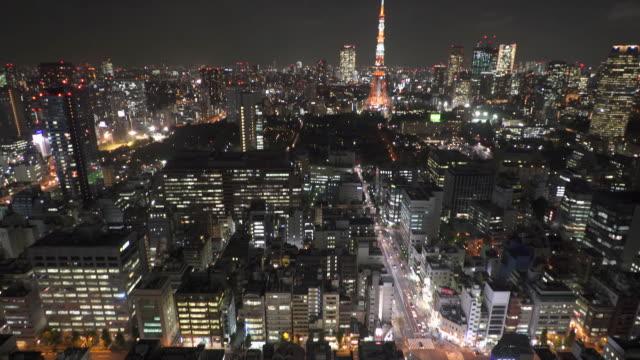 東京の街並みの夜景