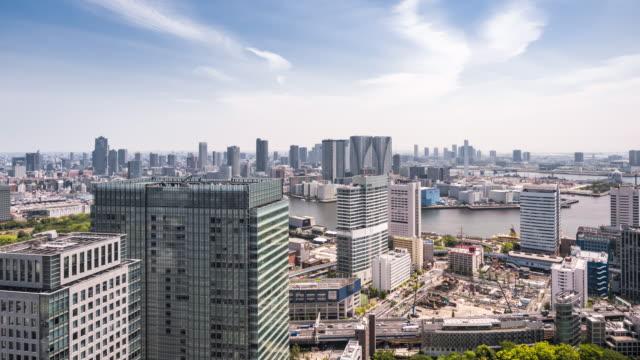 t/l ws ha pan tokyo skyline / tokyo, japan - office block exterior点の映像素材/bロール