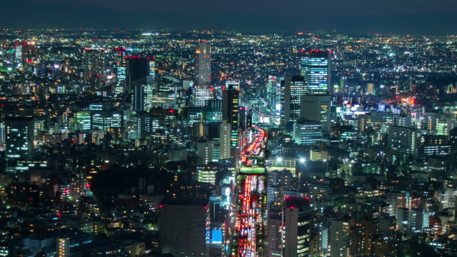 tokyo skyline - population explosion stock videos and b-roll footage