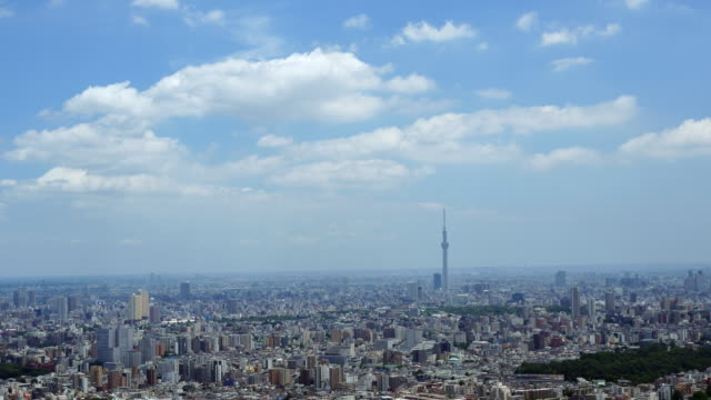 stockvideo's en b-roll-footage met tokyo skytree and buildings - wide shot