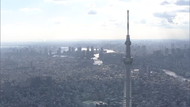 aerial, tokyo skytree - スカイツリー点の映像素材/bロール