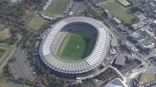 aerial, tokyo stadium, japan - オリンピック大会点の映像素材/bロール