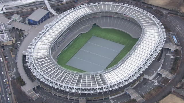 aerial, tokyo stadium, japan - the olympic games stock videos & royalty-free footage