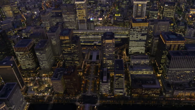 Tokyo Station Aerial at dusk