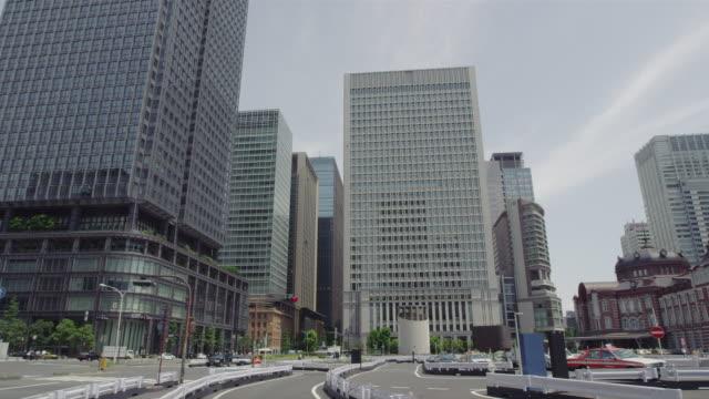 Tokyo station and high rise buildings at Marunouchi