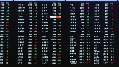 tokyo stock exchange - financial figures stock videos & royalty-free footage