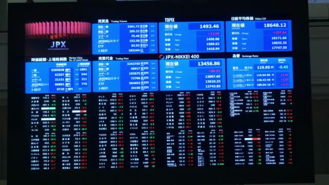 vidéos et rushes de tokyo stock exchange - faire de l'argent
