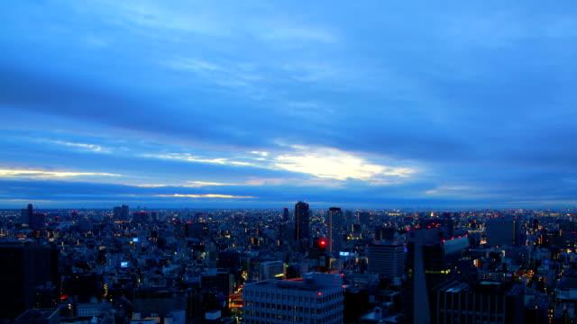 東京の日の出タイムラプス - 薄明かり点の映像素材/bロール