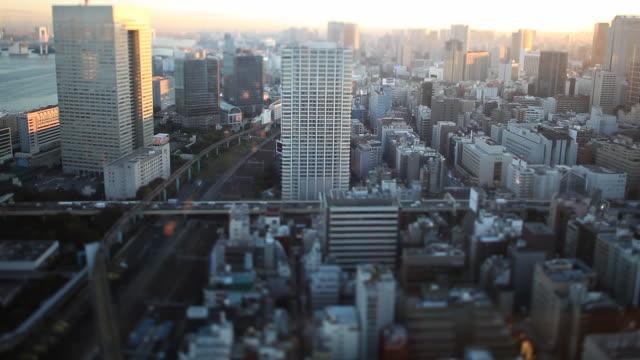 東京の tilt shift - 高層ビル点の映像素材/bロール