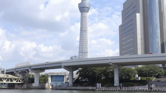 tokyo tourist destination - ティルト点の映像素材/bロール