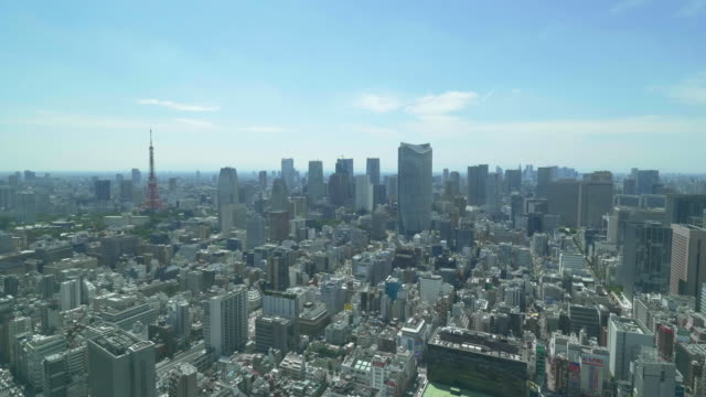 tokyo tower and buildings - lockdown stock videos & royalty-free footage