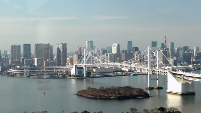 Tokyo Tower and Rainbowbridge view of odaiba