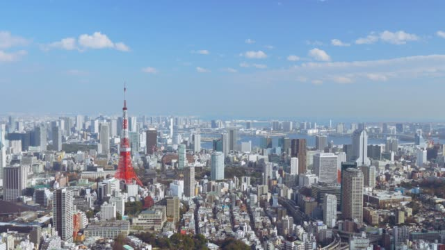 tokyo tower cinemagraph - tokyo japan stock videos & royalty-free footage