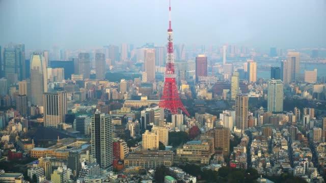 tokyo tower, landmark of japan,4k. - roppongi hills stock videos and b-roll footage