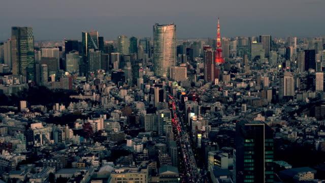 夕暮れ時の東京タワースカイライン - plusphoto点の映像素材/bロール
