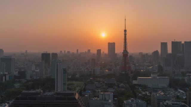 tokyo tower ,timelapse - minato ward stock videos & royalty-free footage