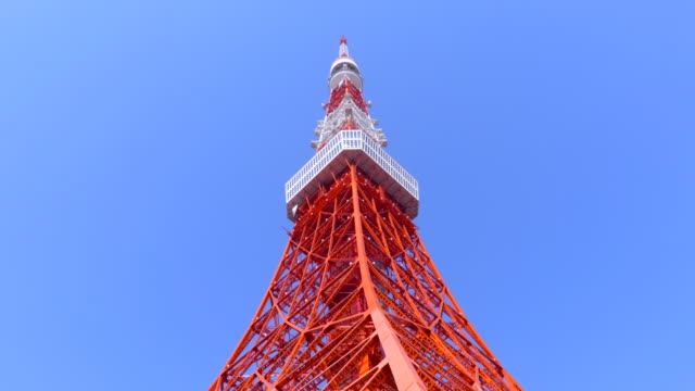 tokyo tower - tokyo tower stock videos and b-roll footage