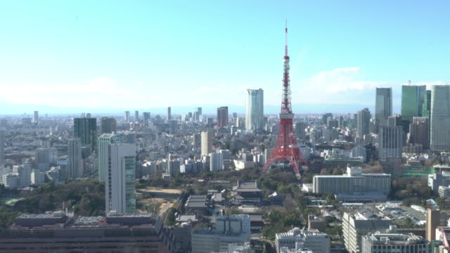 tokyo tower - day stock videos & royalty-free footage