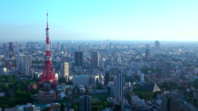 tokyo tower -4k- - tokyo tower stock videos and b-roll footage