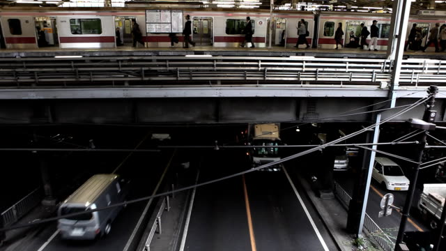 tokyo train ride - railway station platform stock videos & royalty-free footage