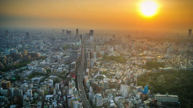 tokyo viewpoint sunset - time of day stock videos & royalty-free footage