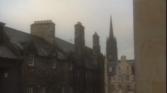 tolbooth church rises above edinburgh in scotland. - pinnacle stock videos & royalty-free footage