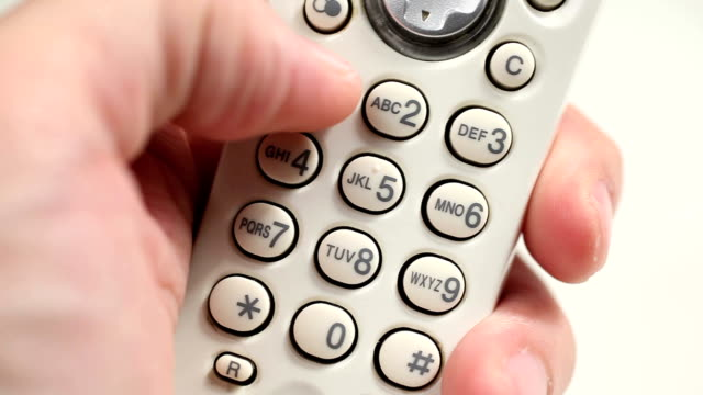 toll free call - cordless phone stock videos & royalty-free footage
