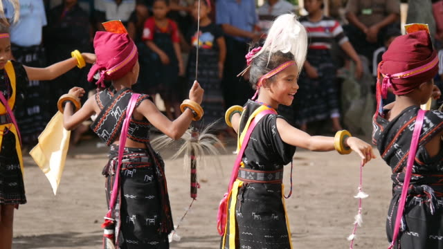 tololela village flores. - traditional dancing stock videos and b-roll footage