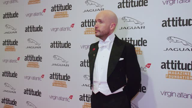 tom allen attends the virgin atlantic attitude awards 2021 at the roundhouse on october 06, 2021 in london, england. - attitude stock videos & royalty-free footage